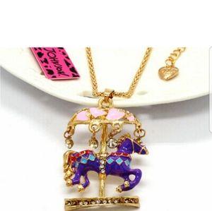 Betsey Johnson Carousel Horse Necklace